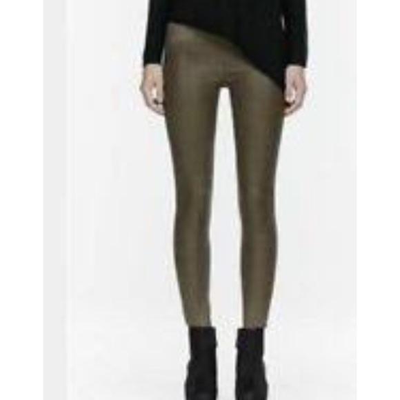 Helmut Lang Pants - Helmut Lang wax coated leggings 25